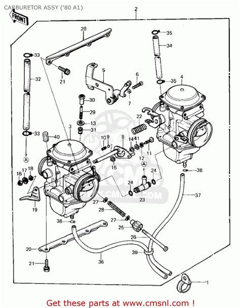 Kawasaki 1980 Kz440 A1 Ltd Carburetor Assy 80 A1