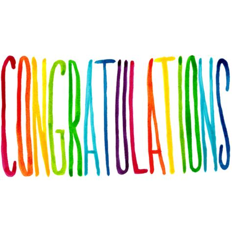 Congrats Text Gift Card - rainbow text congratulations colourful printed folksy