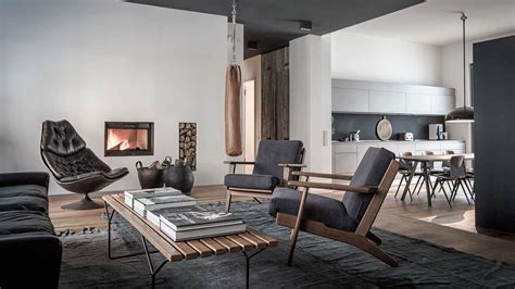edgy luxury apartment equipped  statement furniture