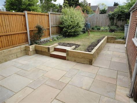 Sleeper Flower Beds by Gbw Landscaping Gallery Of Recently Completed Garden