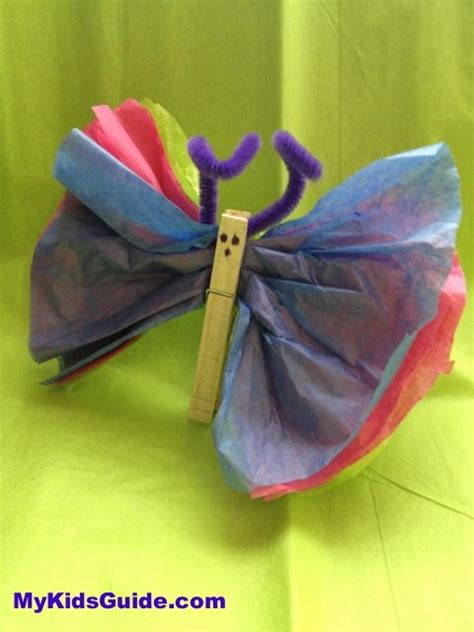 How To Make Tissue Paper Butterflies - easy easter crafts for diy tissue paper butterflies