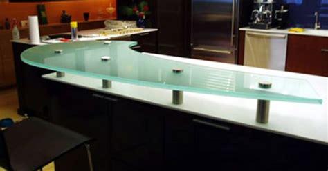 floating bar top 3 4 sandblasted glass countertop floating shelves mi