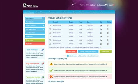 20 Free Admin Panel Template For Your Cms Free Admin Panel Template