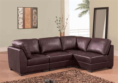 Brown Leather Sectional Sofas Brown Leather Modern Sectional Sofa Plushemisphere