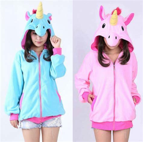 Sale 7365 Sweater Blue Unicorn sudadera unicornio unicorn hoodie wh043 kawaiiclothing