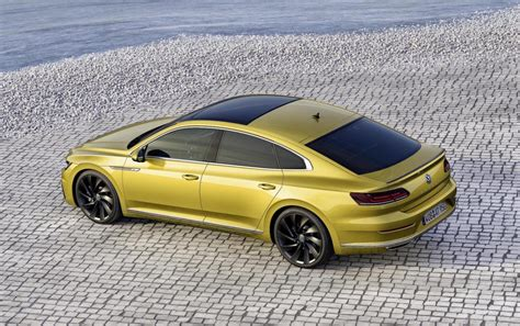 volkswagen arteon r line volkswagen arteon revealed as sporty new passat cc
