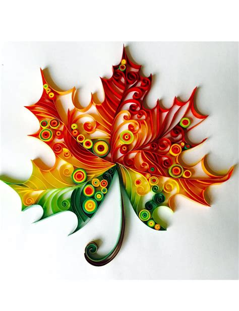 design quilling art maple leaf unique paper quilled wall art for home decor