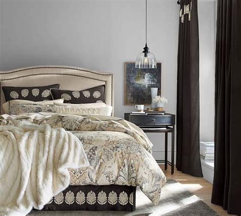 pottery barn bed skirts camilla embroidered bed skirt pottery barn