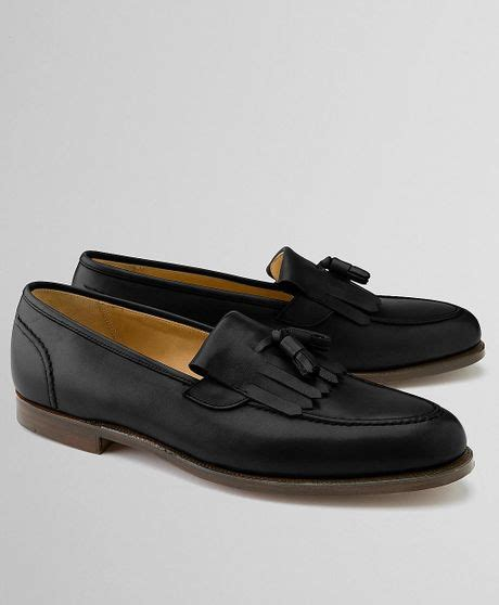 brothers tassel loafer brothers peal co kiltie tassel loafer in black for