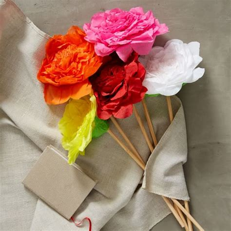 How To Make Mexican Flowers From Crepe Paper - mexican crepe paper flowers begonia west elm