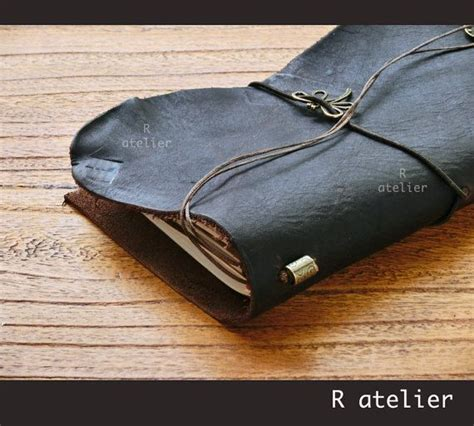 One Fifth Leather Travelers Notebook standard size traveler s notebook leather cover one of a ooak starter kit leather