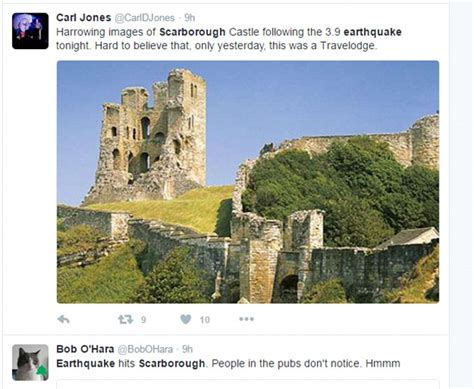 earthquake yorkshire scarborough shaken by biggest quake seen in britain for a