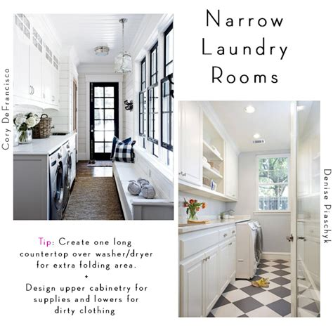 6 Tips For Designing A Laundry Room Becki Owens Narrow Laundry