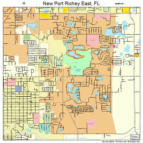 where is new port richey florida on florida map new port richey east florida map 1248525