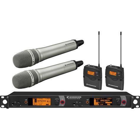 Mic Wireless Shennheiser Em 2500 Heandhel sennheiser 2000 series dual handheld and dual 2000c2 205ni