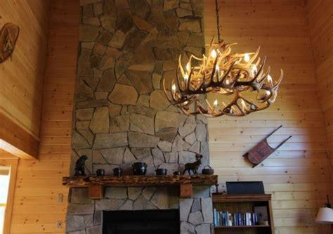 whitetail deer  antler chandelier cast horn designs