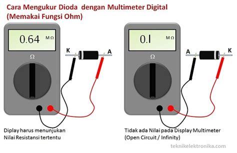 Berapa Multimeter Digital mengukur komponen elektronika inda sandityas ardi