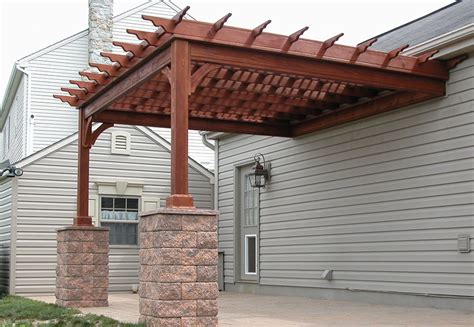 Attaching Pergola To House Pergola Plans Attached To House Smalltowndjs Com