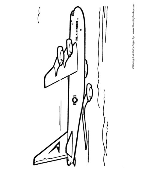 B 52 Coloring Pages by B 52 Bomber Coloring Page