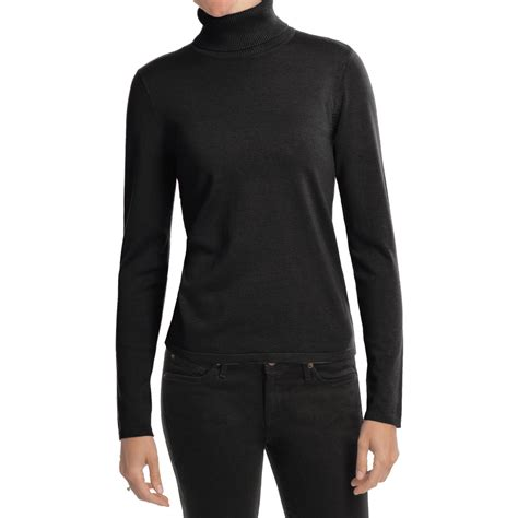 Blouse Ribbed 6137 women s black turtleneck sweater baggage clothing
