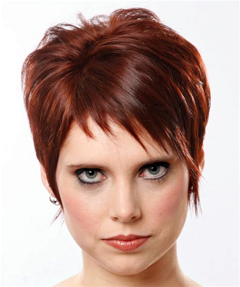 does short straight and slightly layered hair look good short straight casual hairstyle medium red mahogany