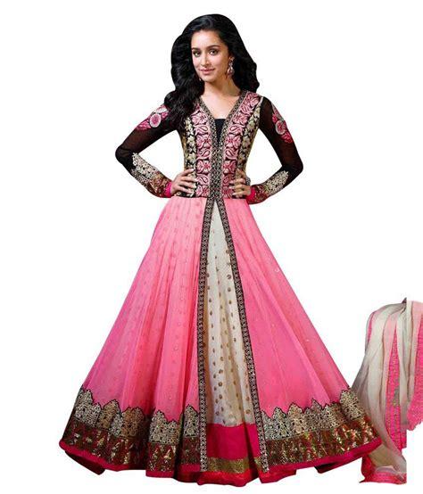 design dress material manufacturers ethnicandstyle designer sarees pink net unstitched dress