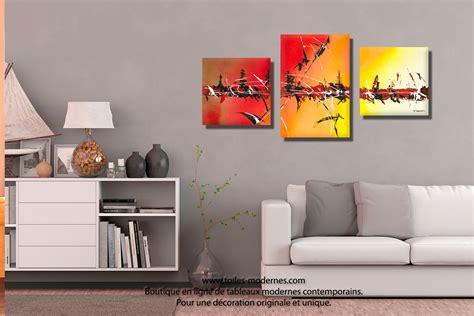 Charmant Peinture Pour Salle A Manger Et Salon #6: tableau-coin-salon-couleurs-chaudes-Vacances-sous-les-tropiques.jpg