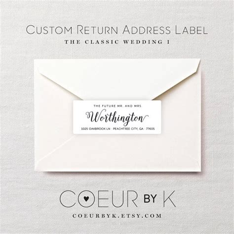 Envelope Address Stickers
