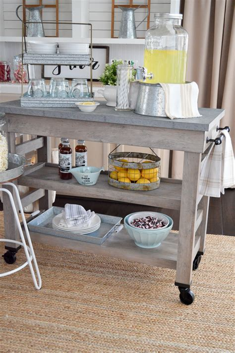 Farmhouse Kitchen Island Cart