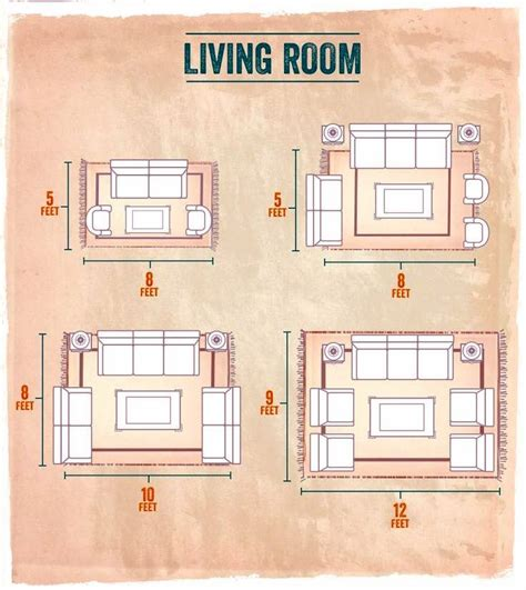 Living Room Sizes by Choosing The Right Size Area Rug For Your Living Room