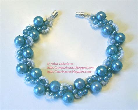 beading for beginners beading for the beginners bracelet in marine blue colors
