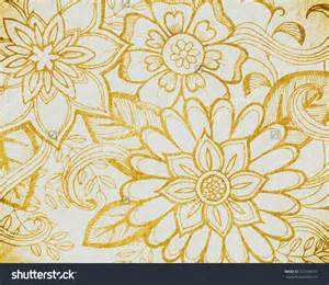 Wedding design or website graphic art backdrop doodled flower art