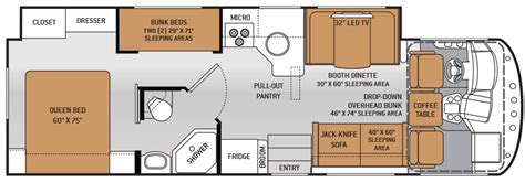 rv floor plans with bunk beds class c rv floor plans with bunk beds meze blog