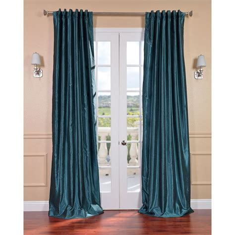 peacock curtain panels peacock vintage faux textured dupioni silk curtain panel
