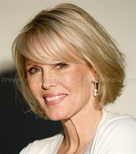haircuts for fine thinning hair after age 50 short hairstyles over 50 bob haircut with fringe