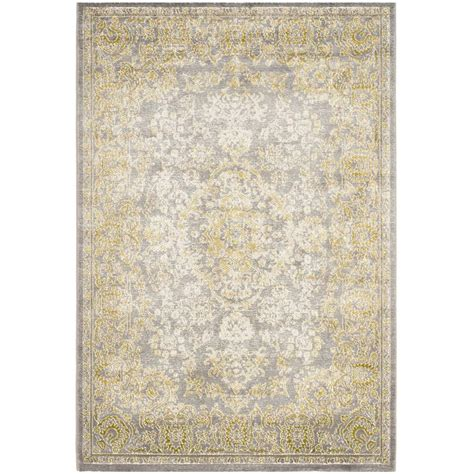 Safavieh Passion Grey Green 4 Ft X 5 Ft 7 In Area Rug 4 Ft Area Rugs