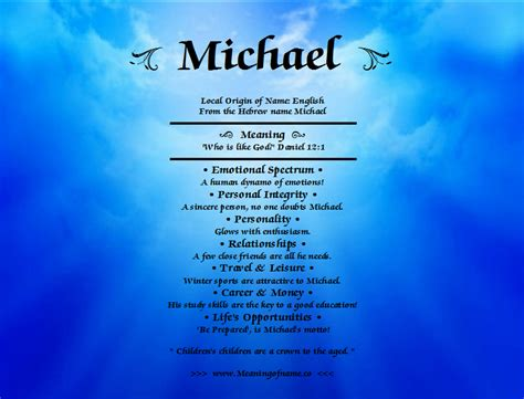 the meaning of the name michael meaning of name
