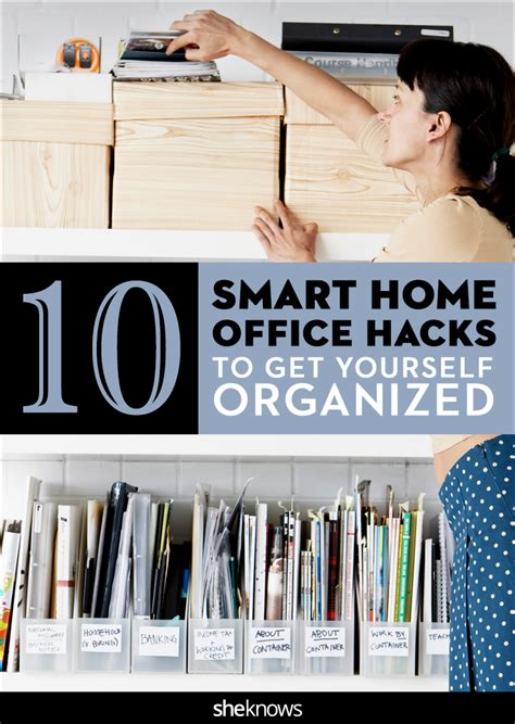 home organization hacks 28 awesome office organization hacks yvotube com