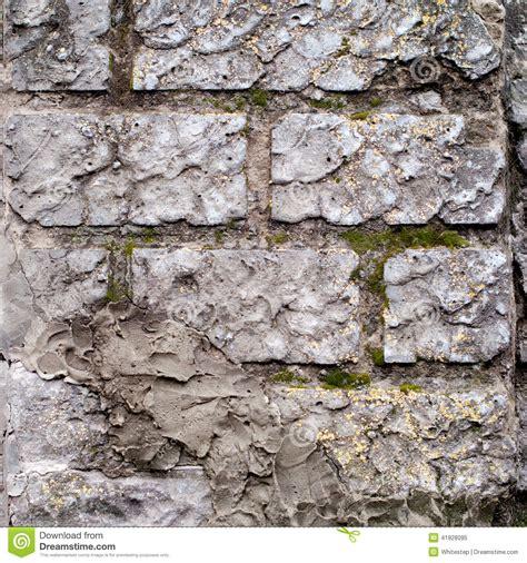 decorative brick laying block wall with decorative plaster stock photo image
