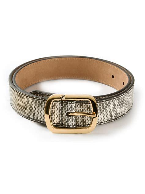 Trendy Fendi Gold Belt by Fendi Micrologo Belt In Gray White Lyst
