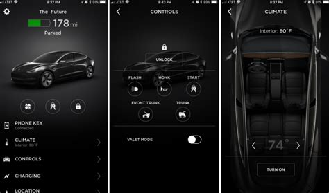 3 mobile app tesla model 3 mobile app adds quot phone key quot and frunk unlock
