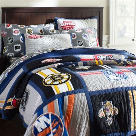 hockey bed new nhl eastern quilt sham pbteen boys room