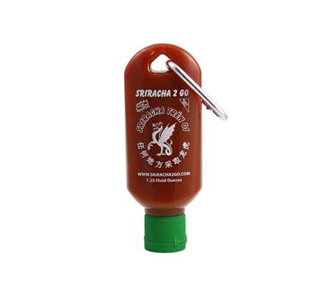 sriracha bottle back stop everything and look at this adorable keychain sized