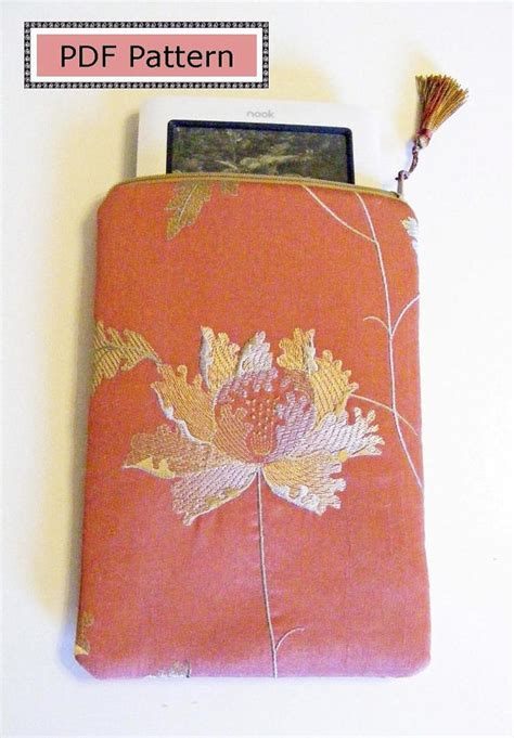 sewing pattern for zippered bible cover pdf sewing pattern kindle kindle fire nook nook color