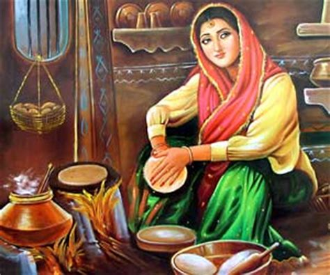 The Punjab Kitchen by Punjabi Paintings Paintings Of Punjab Paintings In
