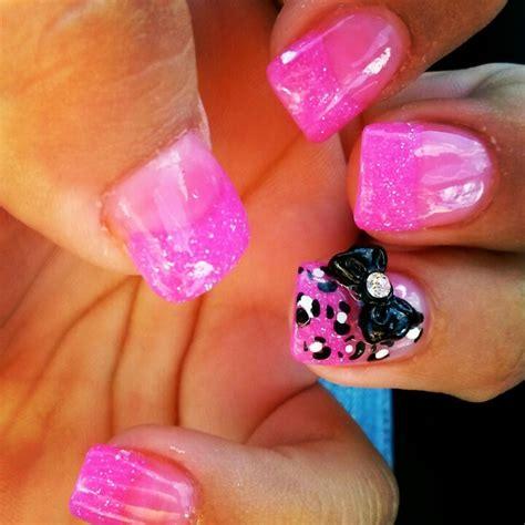pink glitter acrylic nail designs cheetah acrylic nail designs nail designs hair styles