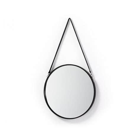 Miroir Rond Métal Noir by Miroir Rond Cuir Miroir Rond M Tal Et Cuir Raintree Par