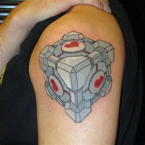 portal tattoo companion cube ideas portal