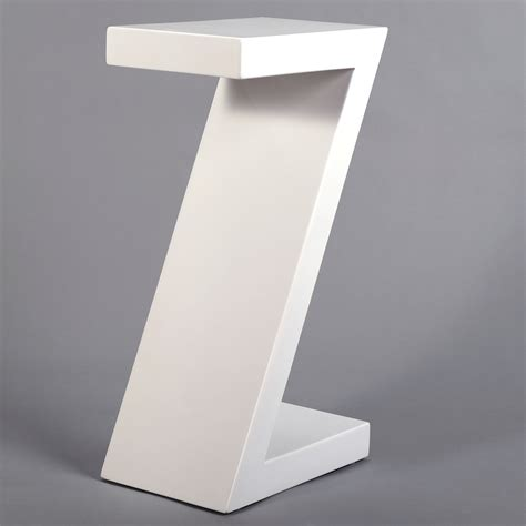 Z Shaped Side Table Side Table Quot Z Quot White 21 5 Quot X12 Quot X8 Quot Kare Design 76092 Z Shape End Table Ebay