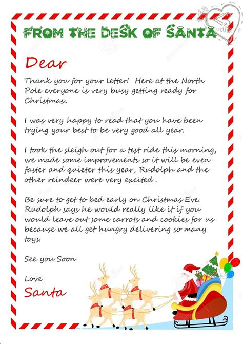 free printable letters from father christmas 3 piece printable christmas letter from santa love a